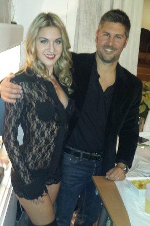 Alex with model Sophia Reel