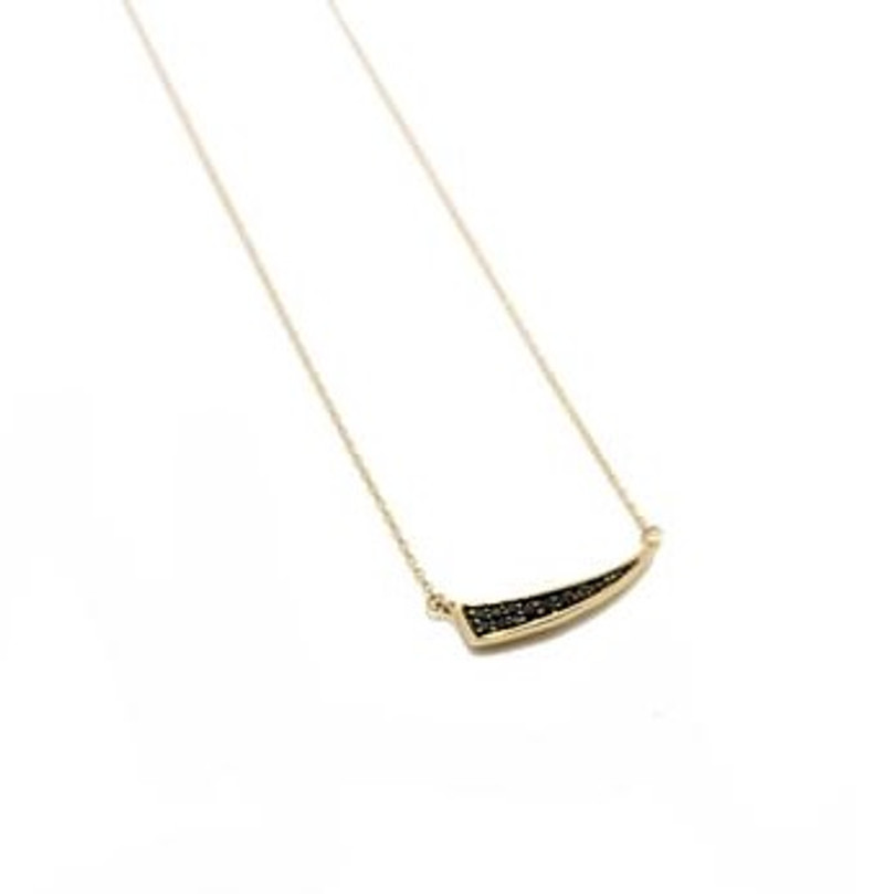 ADINA REYTER PAVE TUSK NECKLACE