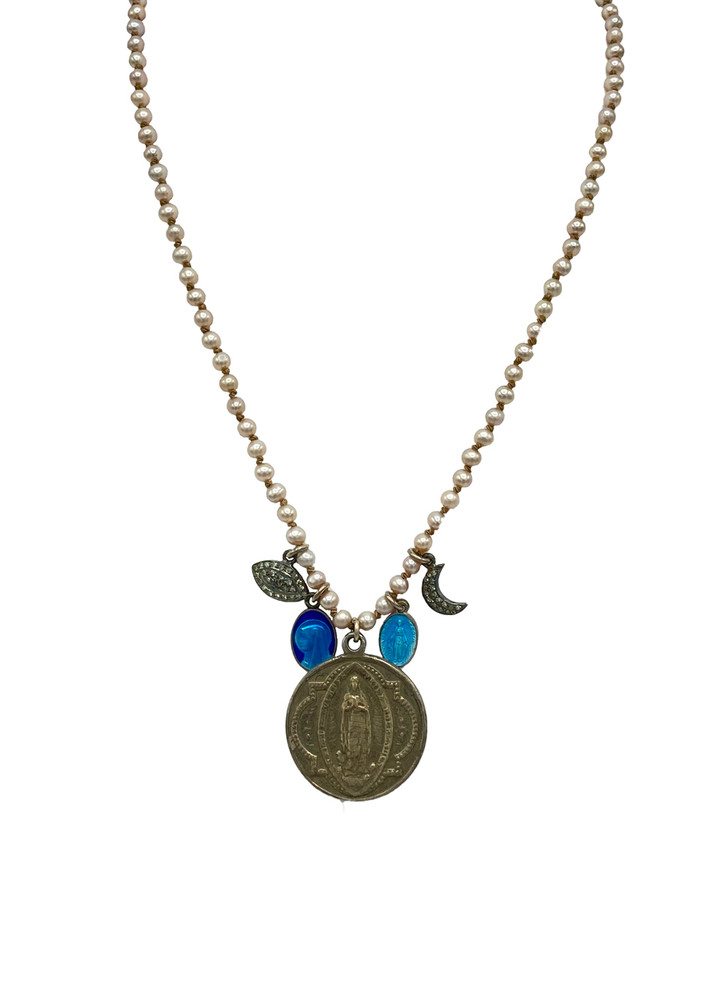 FEATHERED SOUL VINTAGE MARY COIN NECKLACE