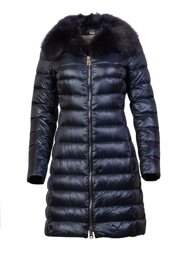 HERNO FAUX FUR DOWN JACKET