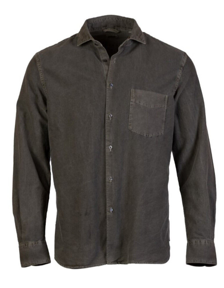 ASPESI GARMENT DYED BUTTON FRONT SHIRT (available in multiple colors)