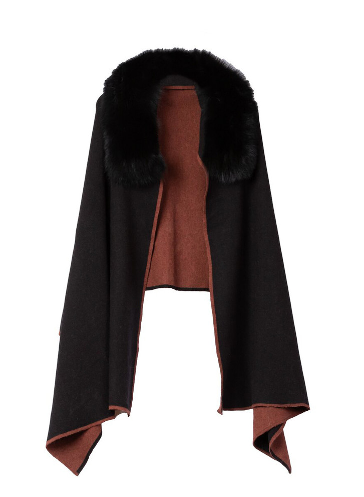 DIOMI WOOL AND FOX CAPE