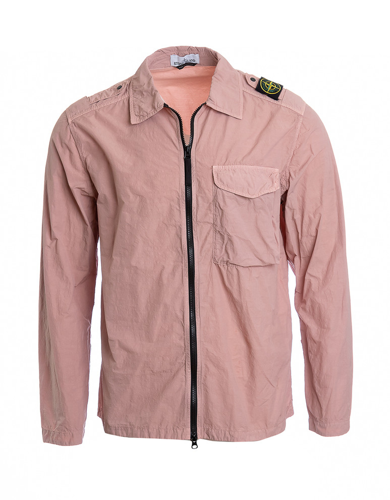 STONE ISLAND ZIP OVERSHIRT LARGE CHEST POCKET (available in multiple colors)