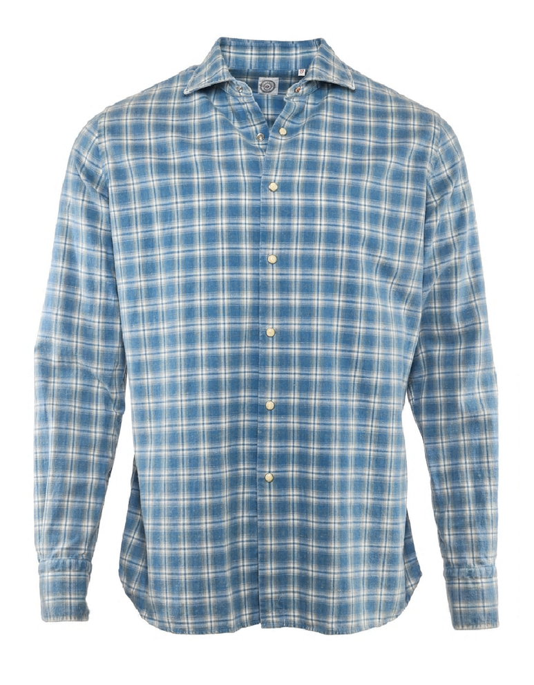 BOLZONELLA SNAP FRONT FLANNEL SHIRT