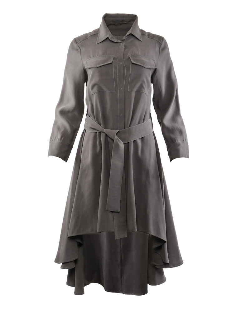 D.EXTERIOR SNAP FRONT SHIRT DRESS