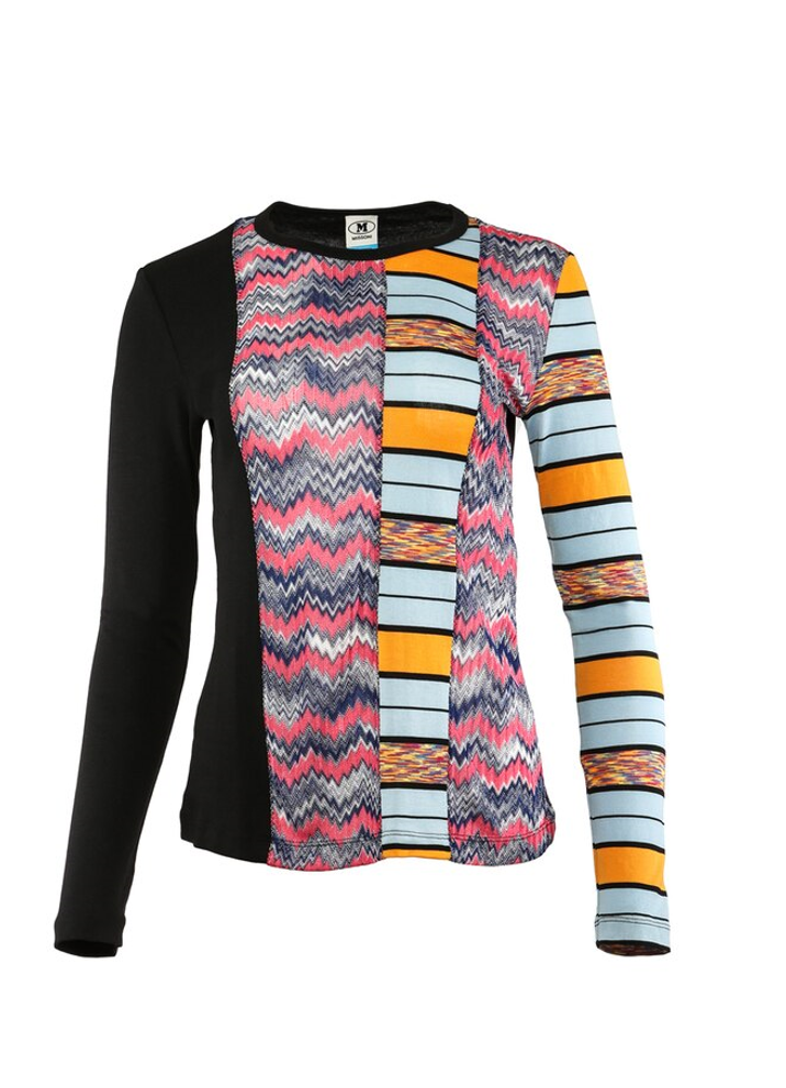 M MISSONI MULTI PANELED SHIRT