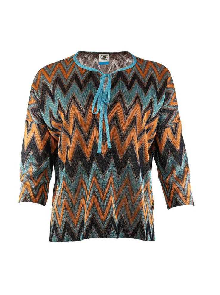M MISSONI TIE NECK 3/4 SLEEVE