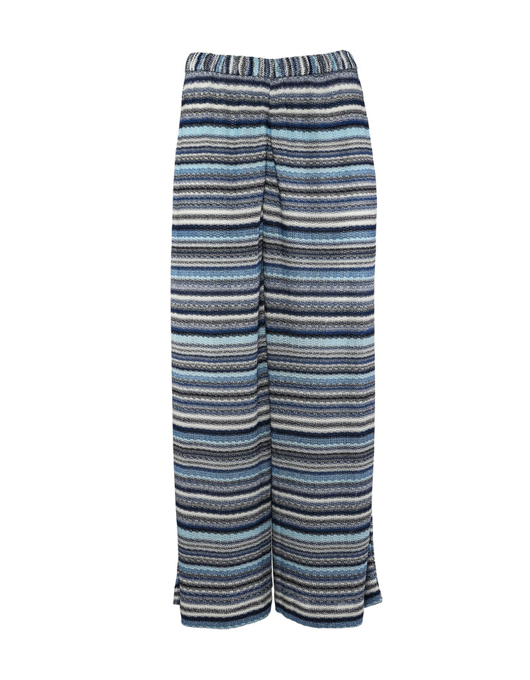 GRAN SASSO STRETCH WIDE LEG STRIPE PANT