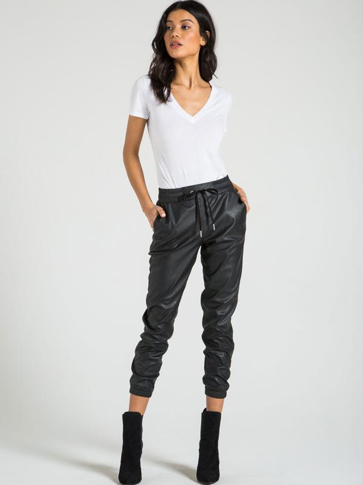 N:PHILANTHROPY FAUX LEATHER JOGGERS