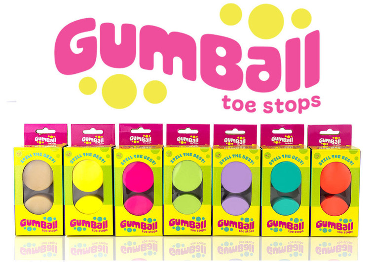 Colorful Gumball Toe Stops