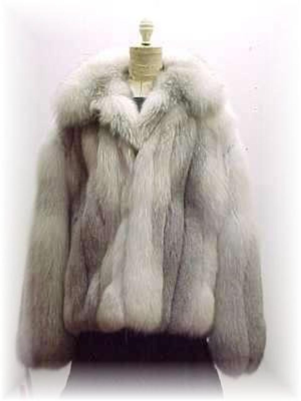 06bee5b944b Full Skin Cross Fox Fur Bomber Jacket - furoutlet - fur coat