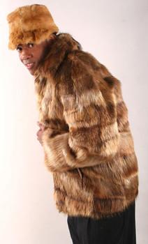 6ef32daaf87 Men s Raccoon Bomber Jacket - furoutlet - fur coat