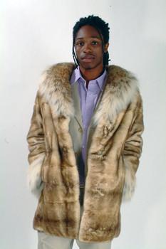 95a0f3fc2fb Full Skin Nutria Fur Jacket - furoutlet - fur coat