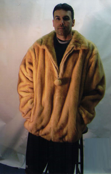 Mens Mink Full Pelt Bomber Fur Jacket 7