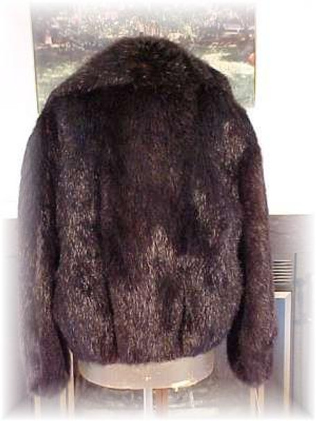 Full Skin Beaver Fur Bomber Jacket