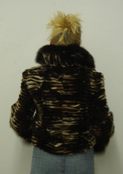 Brown Fox Design Jacket With Brown Fox Wing Collar