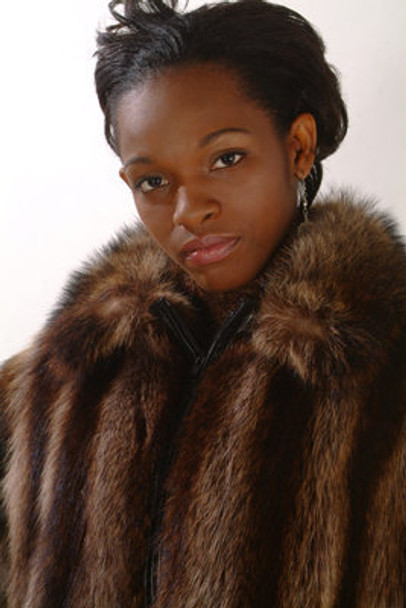 Raccoon Women's Fur Bomber Jacket