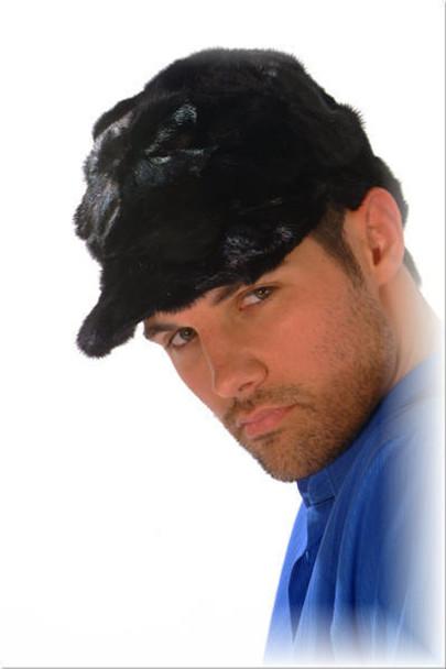 Mink Fur Baseball Cap