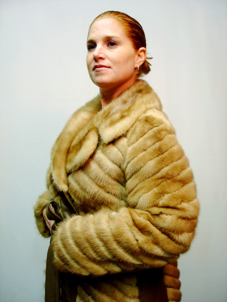 Vintage Mink Fur Jacket With Leather Belt
