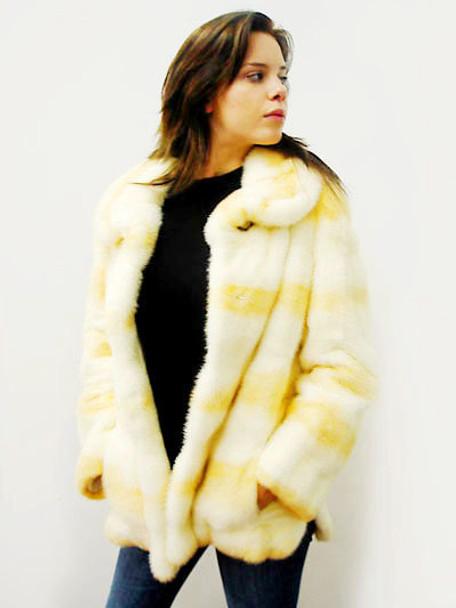 Mink Fur Design Full Skin Jacket