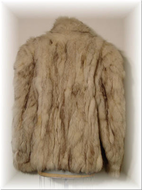 Sectional Fox Fur Jacket with Fox Collar