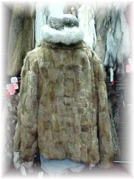 Sectional Beaver Fur Jacket with Zipper