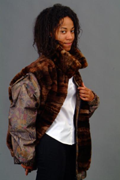 Vintage Fur Beaver Multicolor Jacket 1