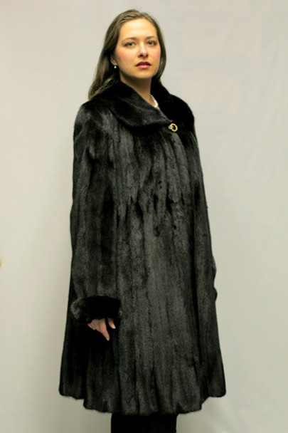 Black Mink Fur Design 1