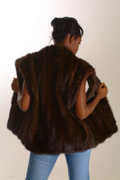 Brown Mink Fur Vest Full Skin 1