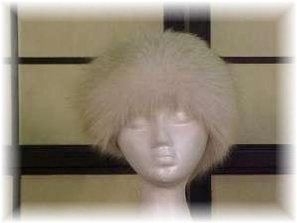 Full Skin Golden Island Fox Fur Head Wrap