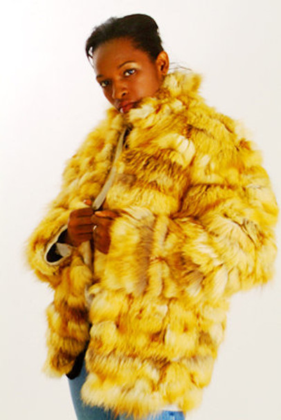 Red Fox Fur Jacket witn Red Fox Collar