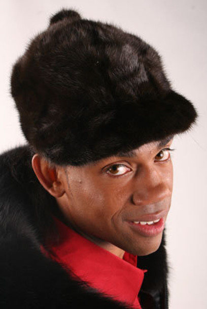 Full Skin Black Mink Fur Hat