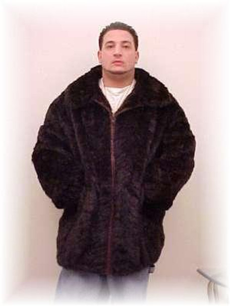 Black Sheared Mink Bomber Fur Jacket