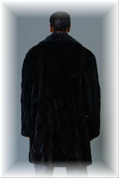 3/4 Mink Fur Jacket w/ Notch Fur Collar 1