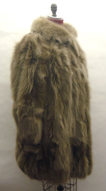Brown Snowtop 3/4 Fox Fur Jacket