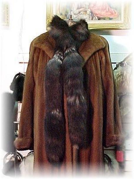 Indigo Fox Tail Boa