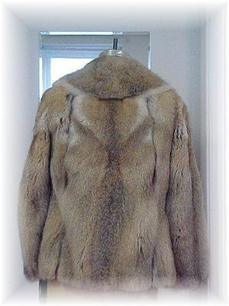 Full Skin Coyote Fur Jacket with Leather