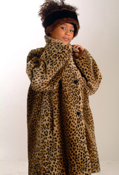 Kids Faux Leopart Jacket