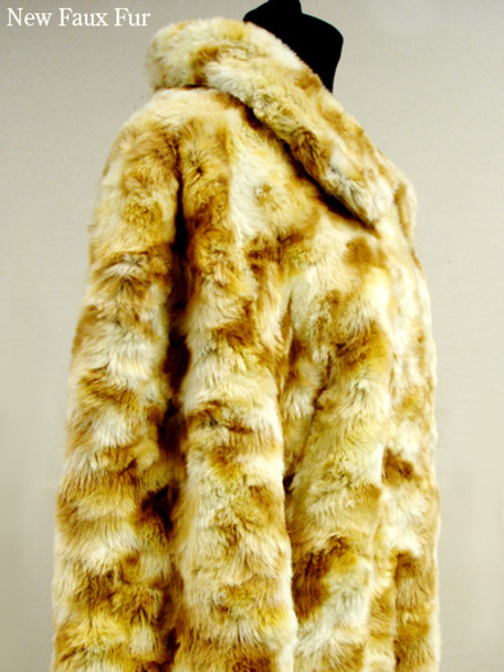 Faux Fur Beaver Bomber Jacket