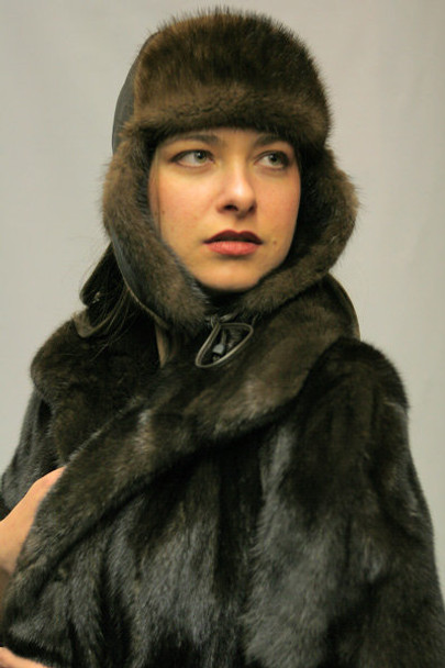 New Mink Russian Trooper Hat