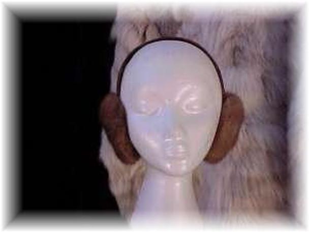 Mahogany Mink Fur Earmuffs