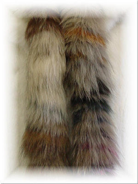Full Skin Multicolor Fox Fur Scarf