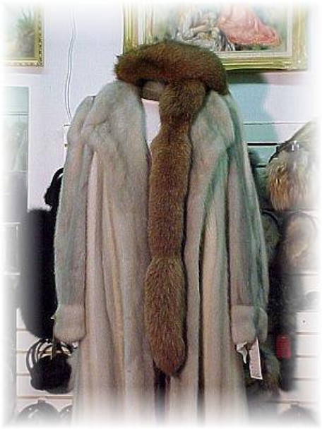 Dyed Light Brown Fox Tail Fur Scarf