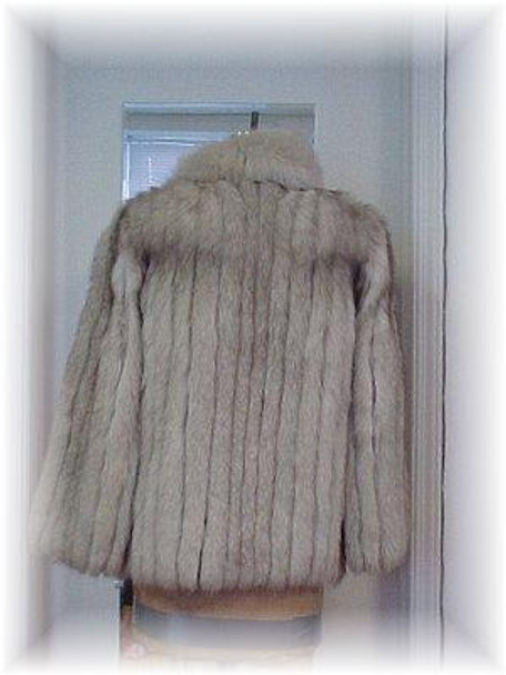 Full Skin Blue Fox Colaroid Fur Jacket