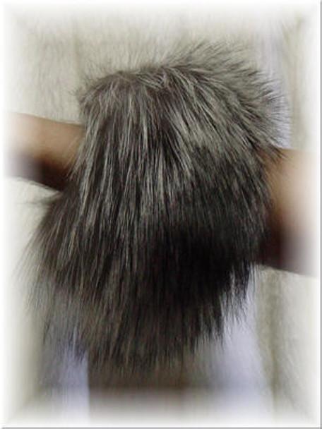 Natural Silver Fox Fur Cuffs