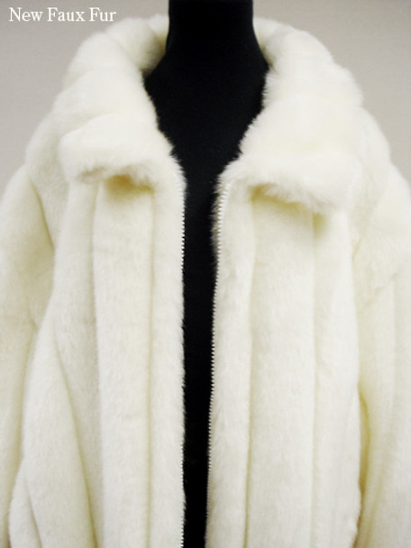 Faux Fur White Mink Bomber Jacket