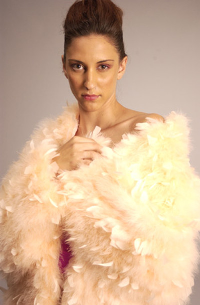 Elegant Ostridge Feather Jacket 2