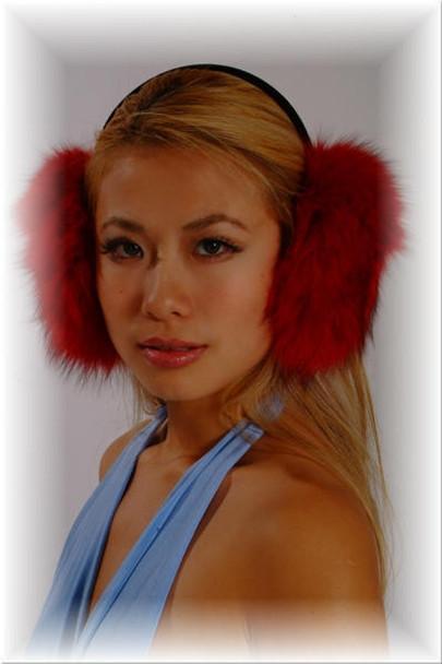Red Fox Fur Earmuffs