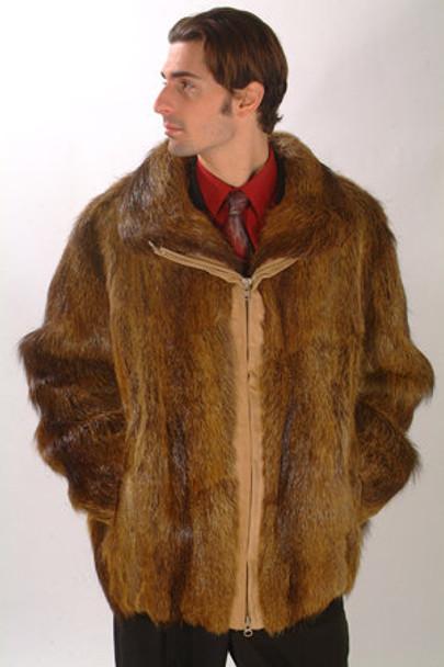 Nutria Fur Jacket Bomber
