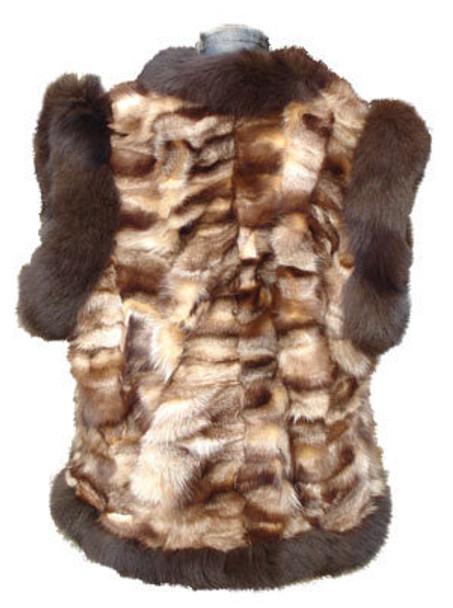 Fox Vest In Brown Multicolor